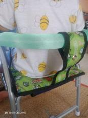 Ghế ngồi xe ga cho bé có vòng sắt và xếp gọn được