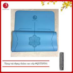 Thảm tập Yoga cao cấp cao su tự nhiên định tuyến Queen Yoga – Tặng túi đựng thảm cao cấp chống nước