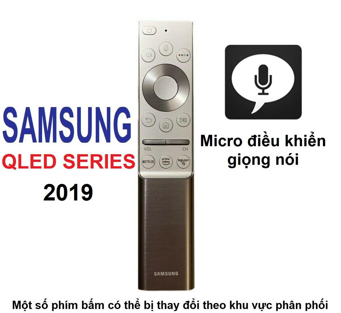 Remote điều khiển tivi SAMSUNG QLED 2019 (Bạc - Micro điều khiển giọng nói)
