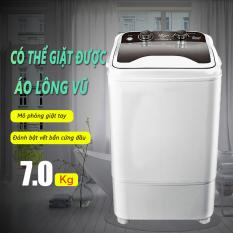 Máy giặt 7kg bán tự động màu xám nắp đen máy giặt 1 lồng cửa trên Tops Market