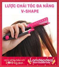 [LÌ XÌ 10K+MÃ GG] Lược chải tóc đa năng V-Shape – duỗi thằng – uốn cúp – phồng tóc 3in1