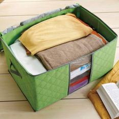Set 2 túi vải đựng chăn mền gối, quần áo cỡ lớn tiện dụng-Màu ngẫu nhiên