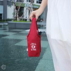 Túi vải canvas đựng bình nước Today is a good day / Túi xách nam nữ đựng bình nước/ Túi xách mini/ Túi tote/ Túi trơn/ Eco friendly bottle bag/ Fabric bags/ Cupholder for bike/ Cute eco lively bottle keeper/ Túi vải bảo vệ môi trường