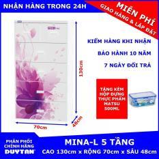 Tủ nhựa Duy Tân MINA-L 5 tầng Tặng Hộp đựng thực phẩm cao cấp MATSU Duy Tân 500ml