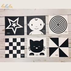Bộ 6 thẻ dán tường kích thích thị giác cho bé