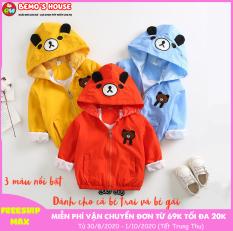 ❤️FREESHIP MAX❤️ Áo khoác gió cho bé bền nhẹ, chống mưa chống rét chống nắng, áo khoác gấu cho bé trai và bé gái 7-25kg, 1-5 tuổi