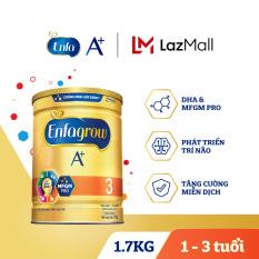 [ FREESHIP TOÀN QUỐC TỪ 1 LON ] Sữa bột Enfagrow A+ 3 cho trẻ từ 1-3 tuổi (1.7kg)
