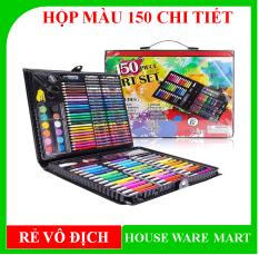 [ SIÊU SALE ] Hộp bút màu 150 chi tiết cho bé thỏa sức sáng tạo, màu sắc đa dạng, bao bì đẹp mắt, chất màu tốt, không độc hại