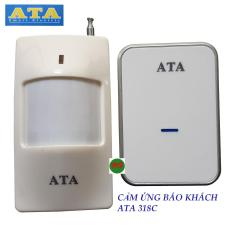 Chuông cảm biến hồng ngoại báo khách không dây ATA 318C – tiếng chuông hay và lớn – kết hợp thêm được chuông hoặc cảm biến hoặc nút nhấn