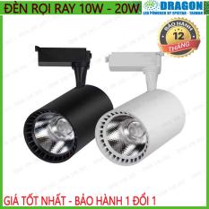 Đèn rọi ray COB cao cấp 10w – 20w, vỏ trắng vỏ đen, ánh sáng trắng hoặc vàng nắng, thương hiệu DRAGON, bảo hành 12 tháng, 1 đổi 1