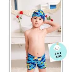 Sét đồ bơi cho bé trai 10-22kg ( gồm 1 quần bơi và 1 mũ)