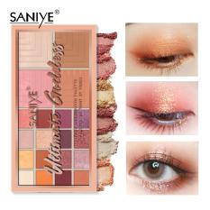 SANIYE Bảng màu mắt màu hồng Bảng phấn mắt trang điểm với bảng màu nổi bật E209