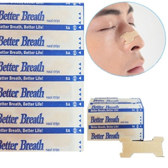 10Pcs Nasal Strips Anti Snoring Sleeping Are Better Than Breath Right - intl