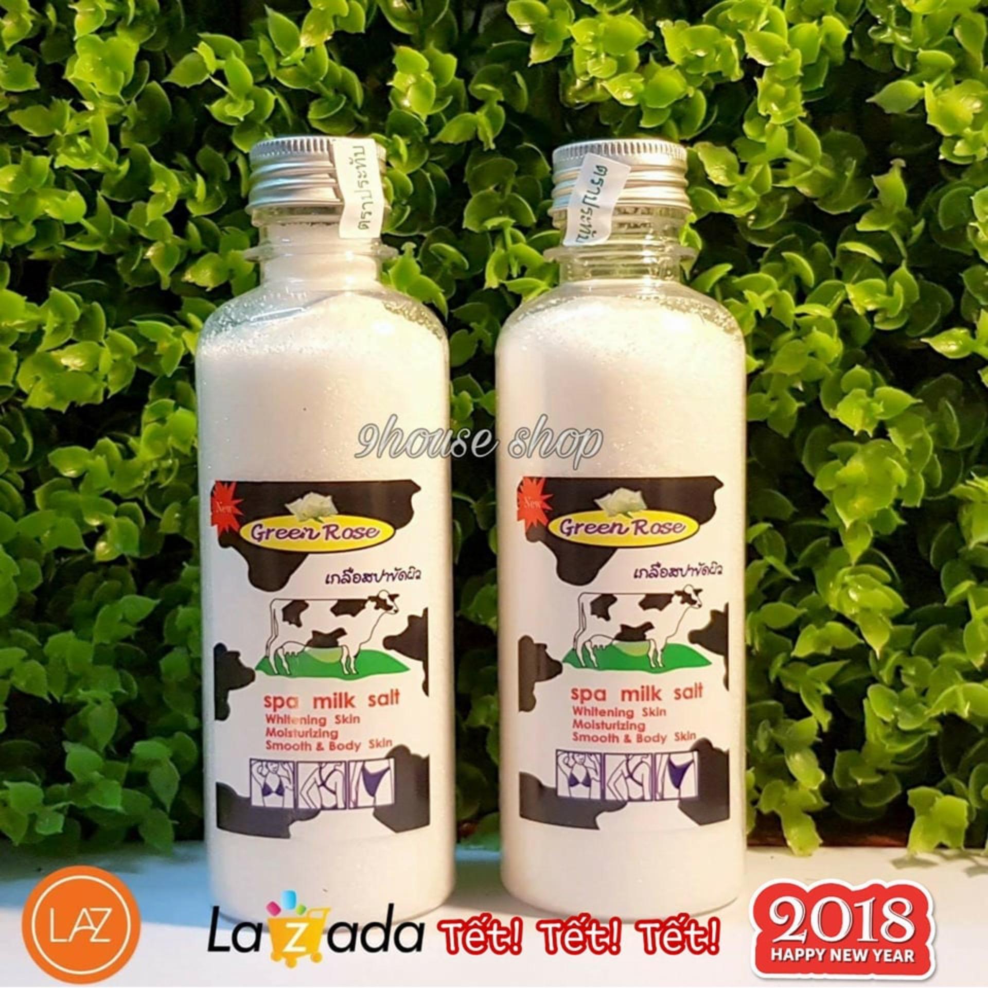 2 Chai Muối tắm sữa bò Green Rose Spa Milk Salt