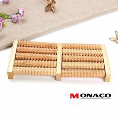 Bàn Lăn Massage Chân Gỗ 5 Hàng Monaco