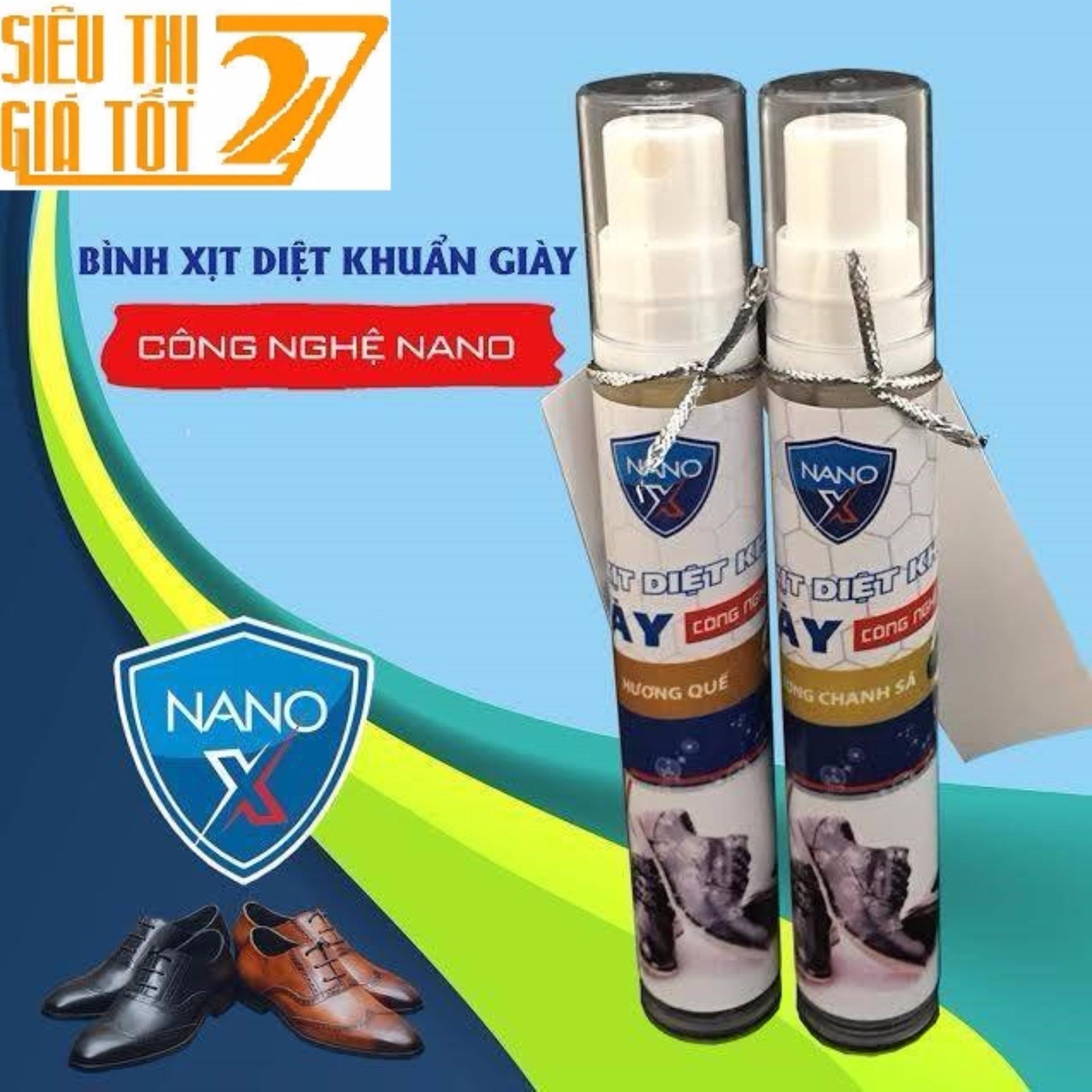 Mẫu sản phẩm Bình Xịt Diệt Khuẩn Khử Mùi Giày Nano – X 24/24 ( Hương Quế)
