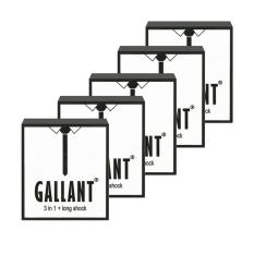 Bộ 05 hộp Bao cao su Kéo dài thời gian GALLANT 3 IN 1 (kéo dài thời gian + hạt nổi + gân)