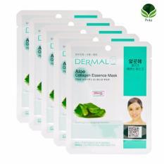 Bộ 05 Mặt nạ dưỡng da Dermal - Tinh chất lô hội