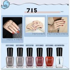Giá Niêm Yết Bộ 06 lọ sơn móng tay màu cao cấp Maycreate ( Mã màu 715 ) + Tặng tuýp kem dưỡng da tay hương thơm thiên nhiên ( mùi hương ngẫu nhiên )