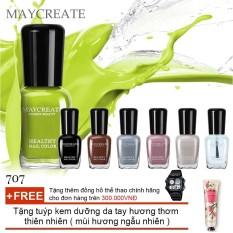 Bộ 06 lọ sơn móng tay màu cao cấp Maycreate ( Mã màu 707 ) + Tặng tuýp kem dưỡng da tay hương thơm thiên nhiên ( mùi hương ngẫu nhiên )