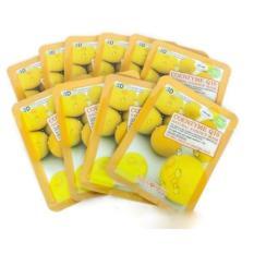 Bộ 10 gói mặt nạ 3D cung cấp hoạt chất Coenzyme Q10 Natural Essence Mask 23g (VÀNG)