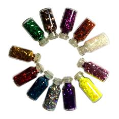 Bộ 12 hộp kim tuyến tạo mẫu nail
