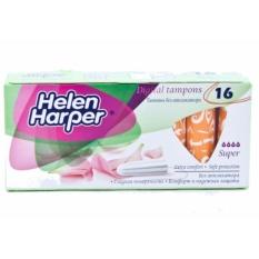 Bộ 2 Băng Vệ Sinh Helen Harper TAMPON SUPPER 16 Miếng Dạng Ống Không Cần Đẩy Dùng Bên Trong Nhỏ Gọn – Nhập Khẩu Từ Bỉ