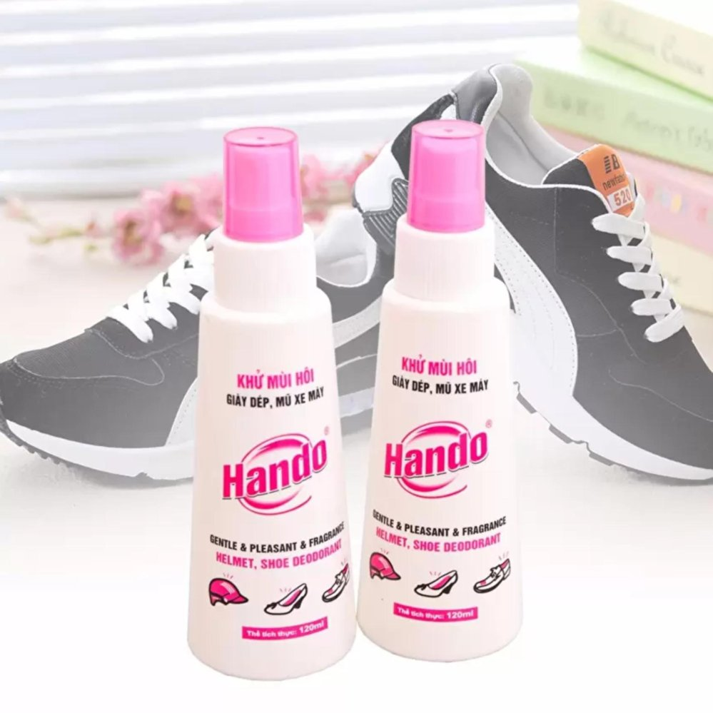 Bộ 2 chai xịt khử mùi đa năng giày dép mũ bảo hiểm 120ml SV497