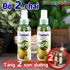 Bộ 2 Chai Xịt Tinh Dầu Bưởi Pomelo Ngăn rụng tóc giúp tóc dài và dày hơn 130ml