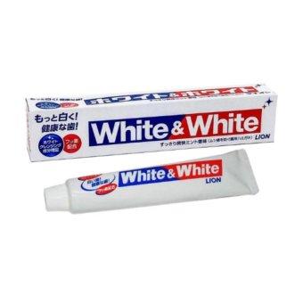 Bộ 2 hộp Kem Đánh Răng đánh bật mảng bám và làm trắng White&White Nhật 150g