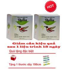 Bộ 2 hộp Trà thảo mộc giảm cân Vy & Tea CHÍNH HÃNG- 30 gói x 30g + Tặng thước dây 150cm