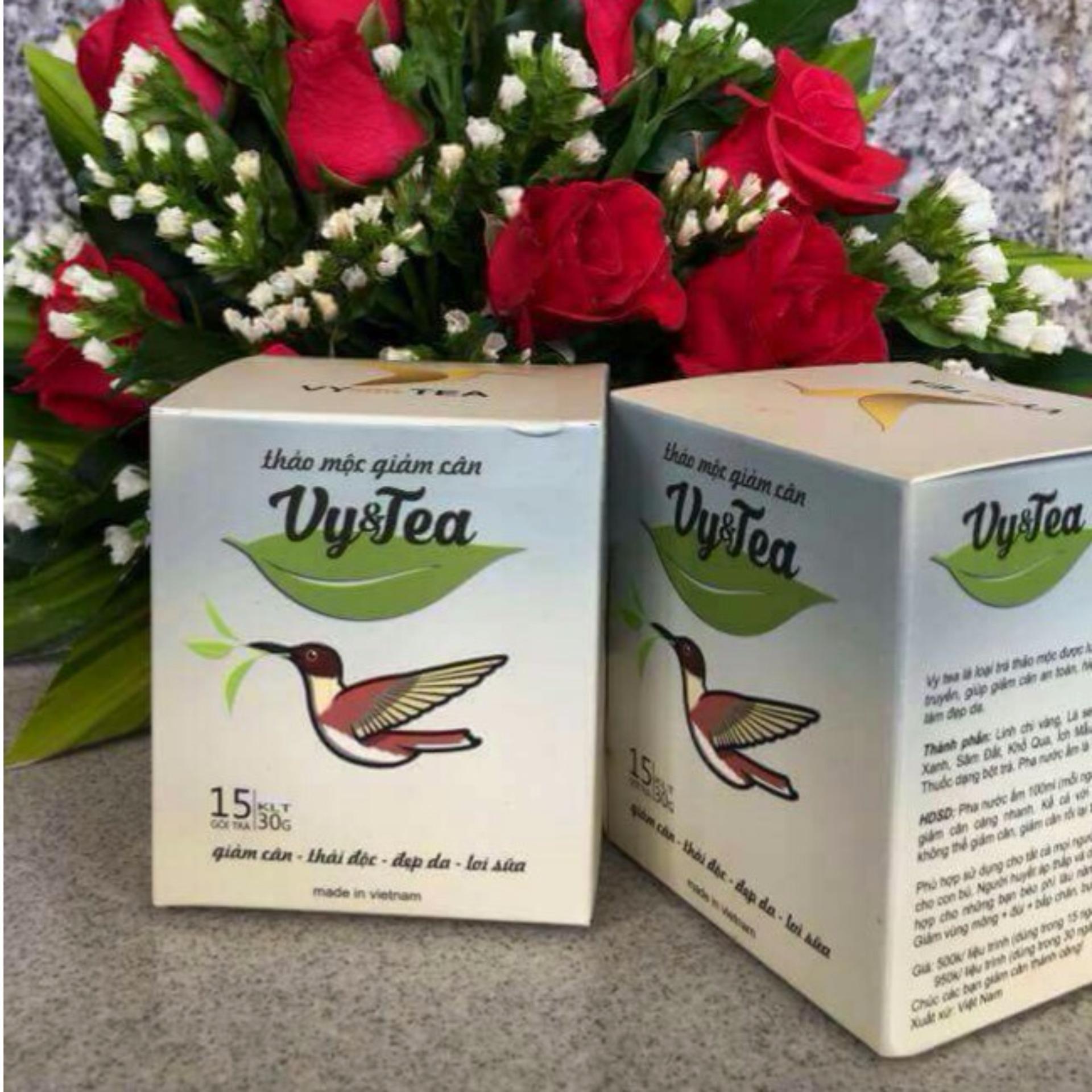 Bộ 2 hộp trà thảo mộc giảm cân Vy & Tea (liệu trình 30 ngày) - HÀNG CHÍNH HÃNG +...