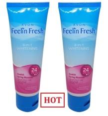 Bộ 2 Kem khử mùi làm trắng nách AVON Feelin Fresh 60g N0.1