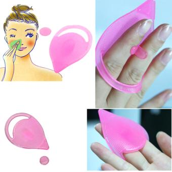 Bộ 2 miếng rửa mặt, mũi và trị mụn đầu đen silicon Facial Cleansing Pad Nhật Bản