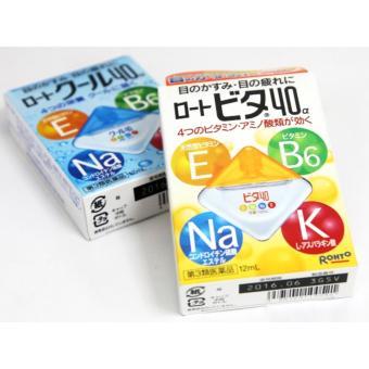 Bộ 2 Thuốc nhỏ mắt Vitamin 40α 12ml Nhật Bản