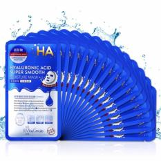 Bộ 20 Mặt nạ dưỡng da HA MayCreate – Hyaluronic Acid Super Smooth Mask (xanh)