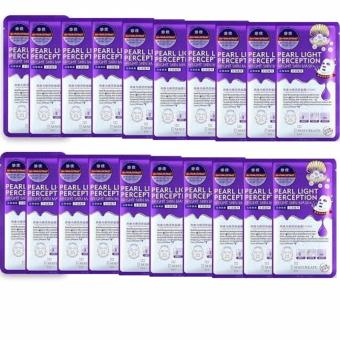 Bộ 20 mặt nạ HA Maycreate dưỡng trắng, làm mờ vết thâm Pearl Light Perception