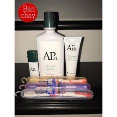 Bộ 3 gồm Nước xịt thơm miệng+kem đánh răng + nước súc miệng Nuskin AP24 ( tặng 3 bàn chải Thái Lan suree trị giá 90k )