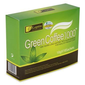 Bộ 3 hộp Coffee giảm cân Green Coffee 1000 chính hãng từ Mỹ