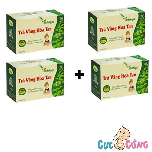 Bộ 4 hộp Trà Vằng Hòa Tan Ánh Ngọc - 20 túi/hộp