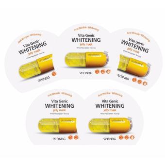 Bộ 5 gói Mặt nạ giấy dưỡng da trắng sáng và làm đều màu da Banobagi Vita Genic Whitening Jelly Mask (Vitamin C) 30ml x5