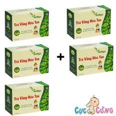 Bộ 5 hộp Trà Vằng Hòa Tan Ánh Ngọc – 20 túi/hộp