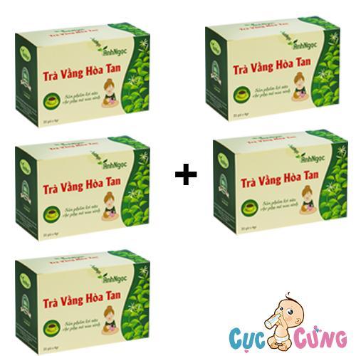 Bộ 5 hộp Trà Vằng Hòa Tan Ánh Ngọc - 20 túi/hộp