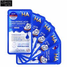 Bộ 5 Mặt nạ giấy cấp ẩm HA siêu cấp ẩm MayCreate HA Xanh Hyaluronic Acid Super Smooth Moisture Mask