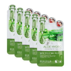 Bộ 5 miếng mặt nạ Phục hồi tình trạng da hư tổn Aloe Hydro Essence Mask Hàn Quốc 20ml - Hàng Chính Hãng