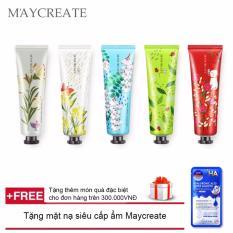 Bộ 5 tuýp kem dưỡng da tay MayCreate – 30g ( 05 tuýp ngẫu nhiên ) + Tặng mặt nạ siêu cấp ẩm Maycreate