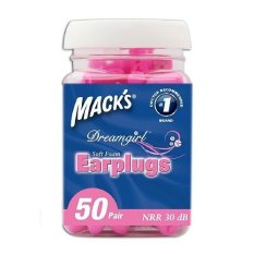 Mack's bộ 50 cặp nút bịt tai cho phụ nữ, màu hồng