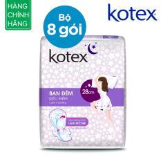Combo 8 gói KOTEX siêu mềm ban đêm 28cm 4*48