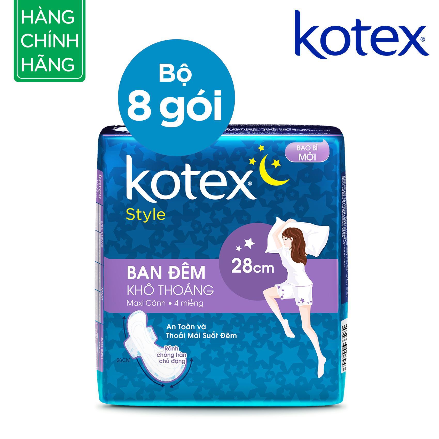 Chi tiết sản phẩm Combo 8 gói Kotex Style LST cánh đêm 28cmx4