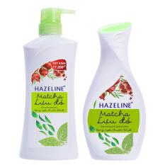 Bộ chăm sóc cơ thể HAZELINE matcha & lựu đỏ gồm sữa tắm 700g và sữa dưỡng thể 140ml